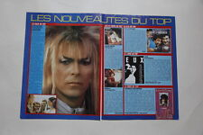 David Bowie Stranglers Lalanne Status Quo Carmel Gold Niagara clippings France