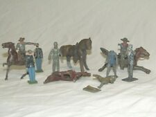 Lead Soldiers Britain Barclay Cowboy Horse Policeman Railroad Parts As Is 1950's