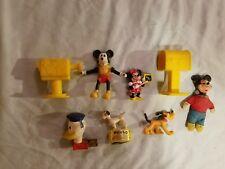 Disney Figure Lot Kohner Push Up Puppet GE Nightlight Mickey Mouse Club Hasbro