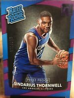 2017-18 Donruss Press Proof Purple #194 Sindarius Thornwell RR 1/199 Clippers Rc
