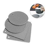 4 Pcs Non-slip Heat Resistant Silicone Kitchen TRIVET MAT Pan Hot Pot Holder