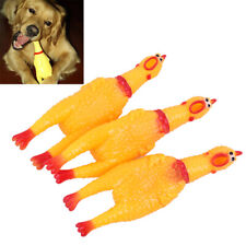 New listing Dog Gadgets Novelty Yellow Rubber Chicken Pet Toys Novelty Screaming Chick N O�