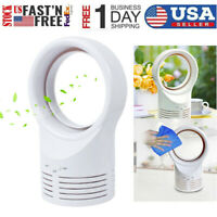 Bladeless Desk Fan Portable No Leaf Fan Mini Bladeless Refrigeration Desktop USA