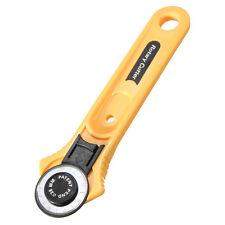 Couteau rotatif découpeur cutter rotary lame circulaire jaune noir 28mm