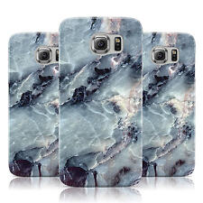 DYEFOR FAUX MARBLE BLUE GREY CASE COVER FOR SAMSUNG GALAXY MOBILE PHONES