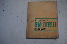 GM Detroit Diesel V71 Parts Book