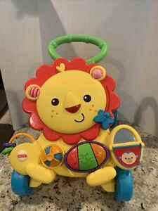 Fisher Price Musical Lion Walker - First Step Learning Activity Toy Piano Mirror