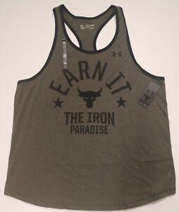 Men's Under Armour Project Rock Earn It Iron Paradise Tank Size 2XL 1353922-315