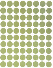 Olive Green Dot Stickers In Various Sizes 8mm 38mm Color Label In 15 Sheets