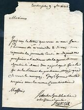 1746, Antique letter from France dated August 1746