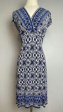 Jones New York Blue V Neck Office Party Casual Dress Size 16 #A