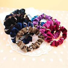 4 Colors Women Velvet Elastic Hair Rope Hair Ring Ponytail Holder Scrunchie