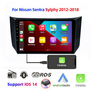 "For Nissan Sentra Sylphy 2012-18 10.1"" car Stereo Radio apple carplay Player"