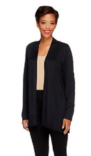 Susan Graver Cascade Front Long Sleeve Cardigan Sweater, Size XS, MSRP $49