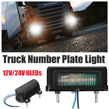 12V 24V white LED Number Licence Plate Light Rear Tail Lamp Truck Trailer Lorry