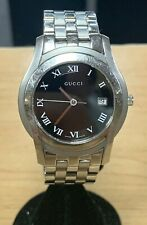 Gucci 5500M Mens Watch Stainless Steel Pre-Owned