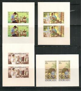 Sc. 283-86 VF MNH Souvenir Sheets of 2  Imperforated