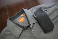 26441 Mens Tallia UOMO Designer Floral Cuffs Long Sleeve Dress Shirt Size Large