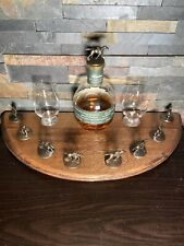 Blanton's Bourbon Cork Display From a Bourbon Barrel Lid Dark Finish
