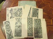 lot 20 cpa musée des tissus tentures diverses broderie