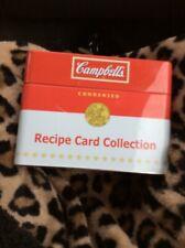 Campbells's Recipe Card Collection Metal Tin 75 Recipes & Blank Cards