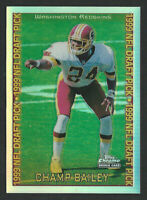 1999 Topps Chrome Refractor CHAMP BAILEY Washington Redskins ROOKIE CARD GEM?