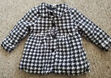 HEALTHTEX Black and White Checked Fleece Coat Girls Size 24 months
