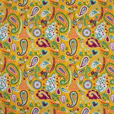 French Terry Sommersweat Paisley Blumen gelb bunt 1,50m Breite