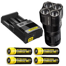 Nitecore TM26GT Flashlight w/ SC2 Charger & 4x Rechargeable NL183 Batteries