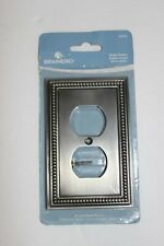 Brainerd Single Duplex outlet cover 64776 Brushed Satin Pewter