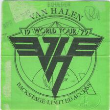 Original VAN HALEN 1979 Backstage Pass Boulder
