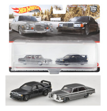 Hot Wheels Mercedes-Benz 2-Pack (280 Sel 4.5 + 190 E 2.5-16-)1:64, Neu,OVP