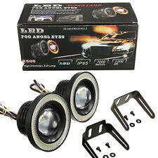 "2pcs 3.5"" COB LED Fog Light Projector Car White Angel Eyes Halo Ring DRL Bulbs"