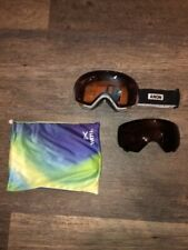 Anon Wm1 Goggles Skiing Snowboarding Magnetic Face Mask and Bonus Lens
