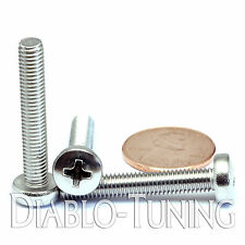 5mm x 0.80 x 30mm – Qty 10 – Stainless Steel Phillips pan head Machine Screws M5
