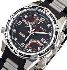 NON-WORKING $200 Timex Men's Intelligent Quartz Fly Back Chrono T49868 PRE-OWNED