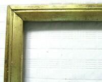 "ANTIQUE FITS 8"" X 10"" LEMON GOLD GILT PICTURE FRAME WOOD FINE ART COUNTRY"