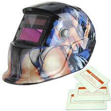 Solar Auto Darkening Welding Helmet Face Shield Grinding Cartoon Girl Mask