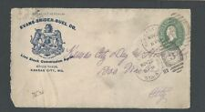 1897 Kansas City Mo Evans-Snider-Buel Co Live Stock Commission Agent Front Only