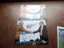 GARRY KASPAROV SIGNED AUTOGRAPH 8x10 CHESS GRANDMASTER BECKETT BAS V Putin rival