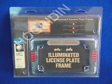 Harley dyna softail sportster xl  illuminated led license plate frame 59030-03