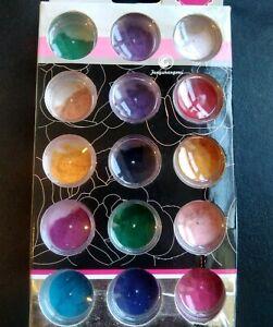 15 pots set Nail Art Flocking Velvet Powder Dust Decoration Tips Furry Flock