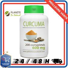 Planete Au Naturel Curcuma 100% Bio 200 Comprimés 600 mg Complément Alimentaire
