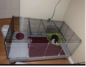 Deluxe Wabbitat Rabbit Cage Kit Large Guinea Pig Indoor Pet House + Feeding Bowl