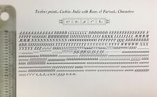 New Letterpress Type 12 Point Cochin Italic With Swash Letters
