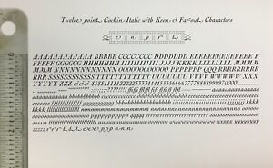 New Letterpress Type - 12 point Cochin Italic with swash letters