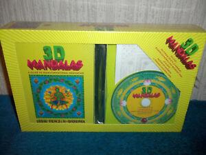 3D MANDALAS - C, MANDALAS, GLASSES, MEDITATION TIMER, CARDS & BOOK SET - SEALED