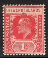 LEEWARD ISLANDS SG38 1907 1d BRIGHT RED MTD MINT