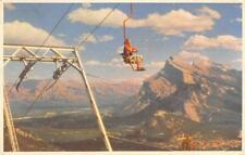 BANFF CHAIR LIFT Mt. Rundle, Mt. Norquay, Canada ca 1950s Vintage Postcard