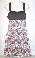 GUESS JEANS~FLORAL PRINT STRETCH SILK~SHORT SLEEVELESS DRESS~WOMENS SIZE SMALL/S